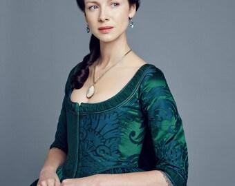 OUTLANDER Claire Fraser Season 2 Green Costume, Custom-made