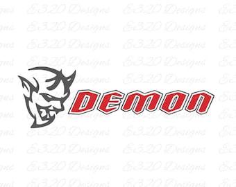 Dodge Demon Logo SRT SVG DXF Cut File