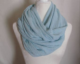 Light Blue Textured Infinity Scarf