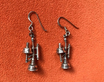 Old fashioned telephone earrings
