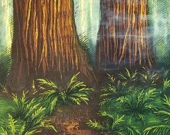 Redwood Print, Reduction Print, Limited Edition Print