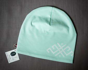 Mint women's beanie hat Slouchy jersey beanie with cotton lining Autumn/spring hat for women/teen Scull hat for outdoor activity