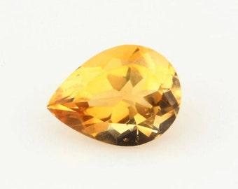 Pear Shape Citrine Loose Gemstone 3.25ct