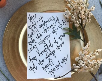 Custom Quote Calligraphy