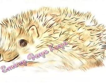 Hedgehog print original art