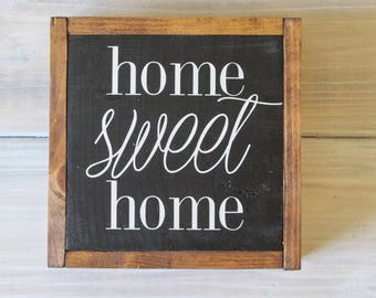 Home Sweet Home Sign, Handmade Wooden Sign