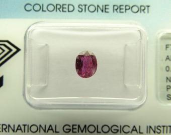 0,65 ct Saphir Rose Naturel Avec Certificat IGI
