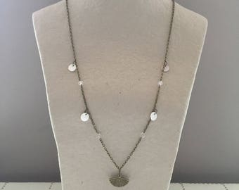 Bronze and Pearl Necklace