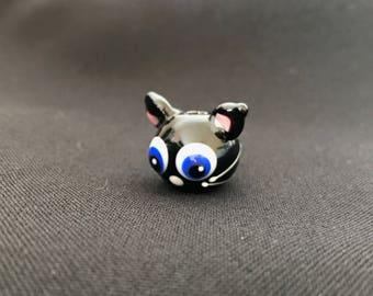 Knot the Cat Glass Bead