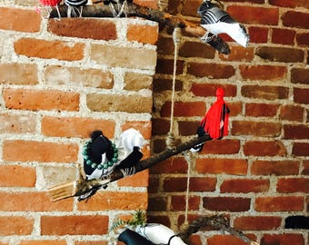Blackbird bird mobile // baby mobile // bird mobile // baby gift