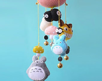 DIY Kit Totoro Wind Chime Fabric/Felt
