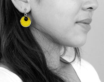 Fancy embroidered earrings which you can choose color more than 50 colors. It is the best gift for everyone!