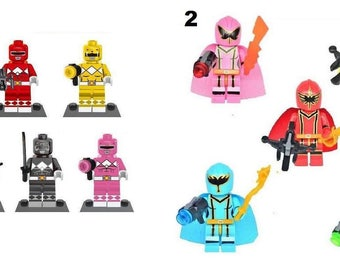 Power Rangers Minifigure Fits Lego Mighty Morphin Original Ranger Mystic Force Mini Figure