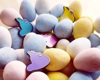 Marshmallow Bunny Pin | Ghibli Inspired | Spring Enamel Pin