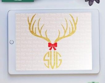 Deer Antlers SVG, Reindeer SVG, Christmas svg, Fall svg, Deer Head svg, Antler svg, Cricut svg, Silhouette svg, Dxf, Png, Svg, Jpeg