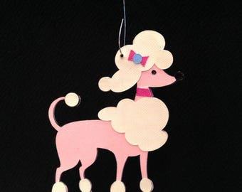 Poodle Christmas tree ornament