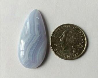 39.38x18.43mm,Tear Shape Blue Lace,Pear Shape Blue Lace Agate/wire wrap stone/Super Shiny/Pendant Cabochon/Semi Precious Gemstone/silverJewl