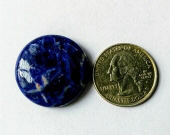 27.25mm,Round Shape Sodalite,Attractive Sodalite /wire wrap stone/Super Shiny/Pendant Cabochon/Semi PreciousGemstone,silver jewelry