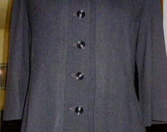 1940 s Black Wool Jacket