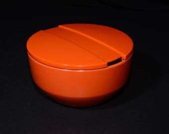 Rosti Denmark Melamine Sugar Bowl with Lid - Soren Andersen Design - Mod orange Mepal-Melamine Sugar Bowl - Danish Modern Sugar Bowl