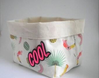 Storage basket, printed Miami. Neon patch.1 piece.