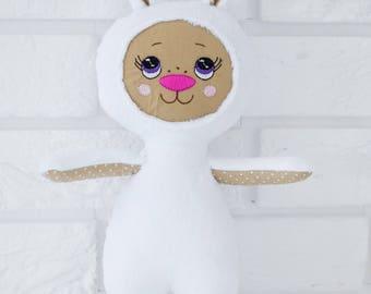 Rabbit white plushie