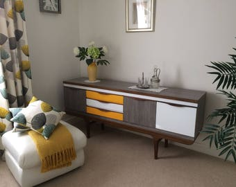 "SOLD! SOLD! Vintage and Retro Style Mid Century Sideboard. Upcycled in ""Fablon"""