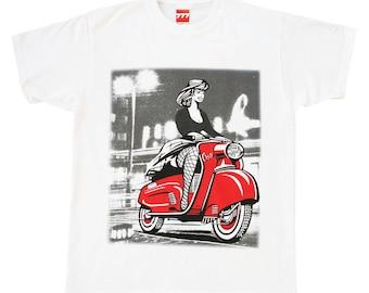 Scooter Osa photo tshirt polski classic vintage communist Poland bike design