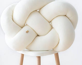FAT knot cushion - ecru