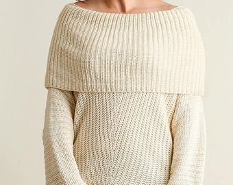 Fold Over Sweater!