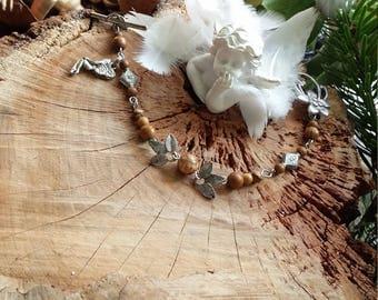 Wood Jasper bracelet, or Jasper landscape - fairy - by AngelS SignS bracelet