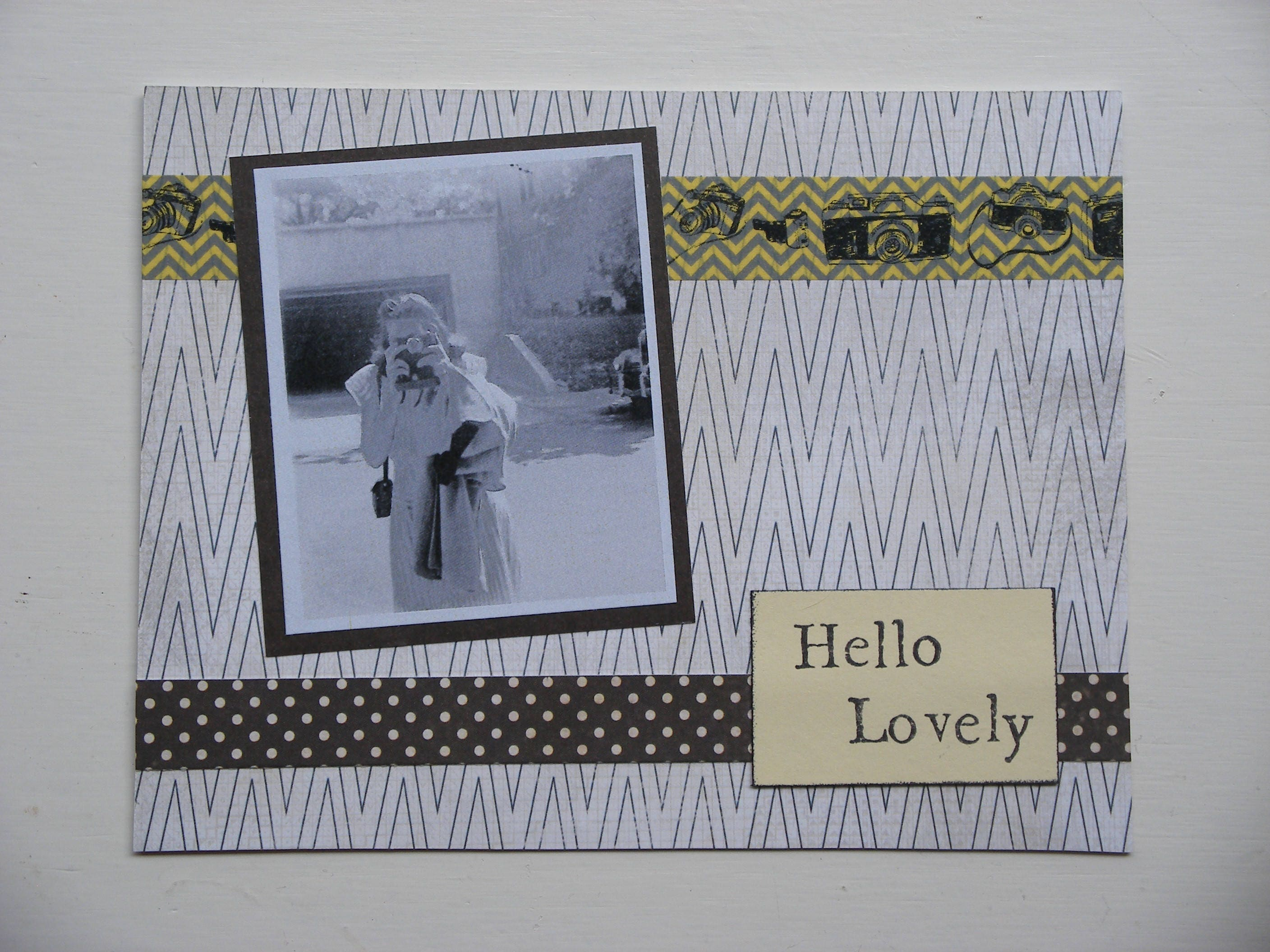 Blank greeting card 4x6 hello lovely black and white vintage photo blank greeting card 4x6 hello lovely black and white vintage photo just because kristyandbryce Image collections