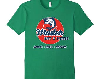 Master Bait & Tackle Shop Parody T-Shirt - Double Meaning Funny