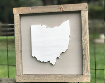 Wood State Sign // Home State Sign // Ohio State Sign // Ohio State Decor // Any State