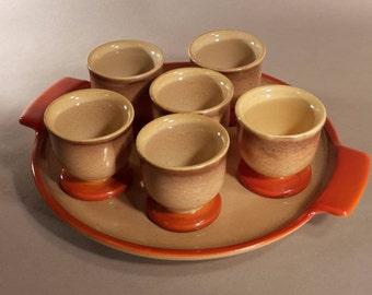 Egg Cup set Waechtersbach ceramics Ursula Fesca