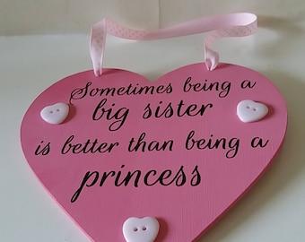 Big sister plaque