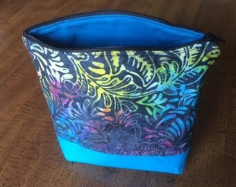 Batik zipper bag