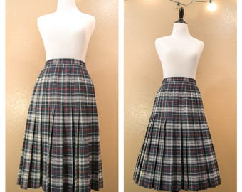 Pendleton wool skirt, Vintage wool skirt, Wool skirt, Pendleton, Vintage skirt, Pleated skirt, Retro skirt, Womens, Size medium, Clothing