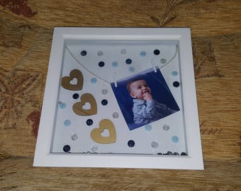 Personalised 3d frame with photo special gift aniversary