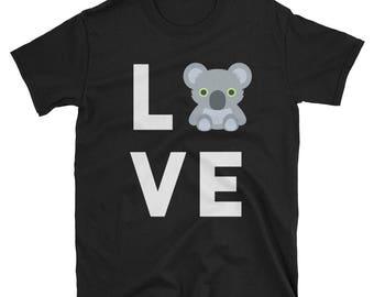 Cute Koala T-Shirt, Funny I Love Koalas Tee, Gift for Koala Bear & Australia Lovers, Novelty Animal Humor Tshirt, Australian Themed Gifts