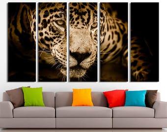 Leopard Leopard canvas Leopard print Leopard photo Wild cat canvas Wild animals photo Leopard wall decor Leopard home decor Wall art Canvas