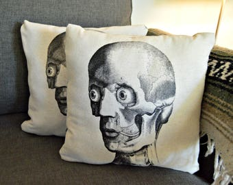 Skull Pillow Holiday Decor Rustic Decoration
