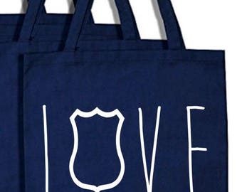 Love Police Bag, Police support, LOVE blue line bag, Police purse, Cop gift, Police wife, police girlfriend