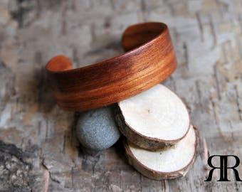 African Etimoe Bentwood Cuff Bracelet - Men's/Women's Bracelet - Wooden Bracelet Cuff - Handmade - Custom