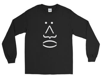 Simple Face distressed Unisex Spartees Long Sleeve T-Shirt
