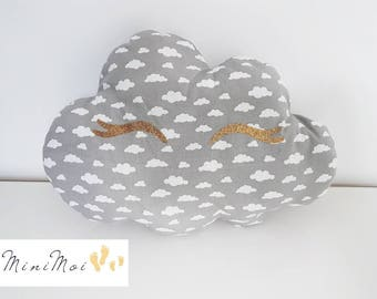 Cute grey cloud and sequined Eyelash cushion