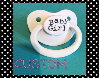 CUSTOM Pacifier, Adult Pacifier, DDLG Pacifier, ABDL Pacifier, Ageplay