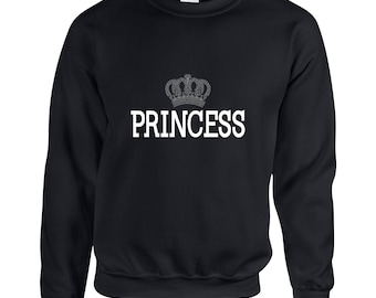 Princess  Couple Goals Clothing Adult Unisex Sweatshirt Printed Crew Neck Sweater for Women and Men