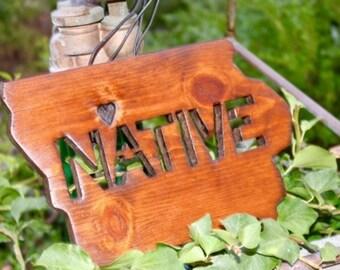 Iowa NATIVE Cutout | Custom Wood Wall Decor