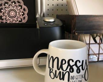 Custom mug   Handlettered   Coffee cup    Modern Calligraphy   Gift   Quote